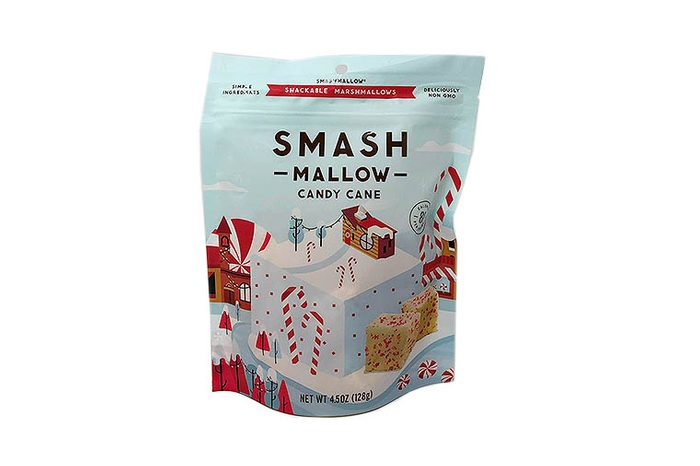 Smashmallow Candy Cane Marshmallows with Organic Cane Sugar