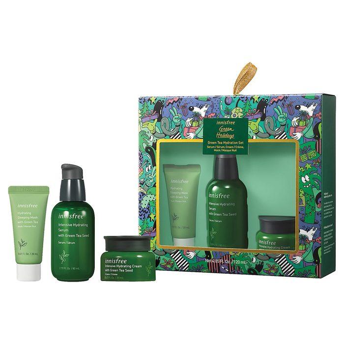innisfree green tea holiday skincare set