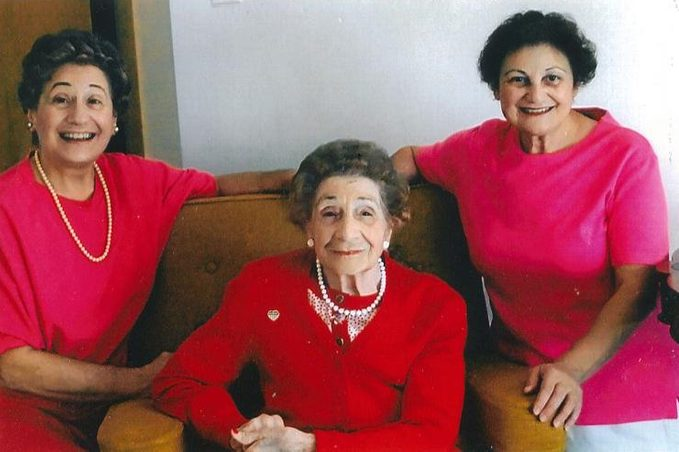 SISTER ROSEMARY ZUCCARO, MOTHER (IN THE MIDDLE) IS SALLY ZUCCARO AND MARIE ELENA ZUCCARO
