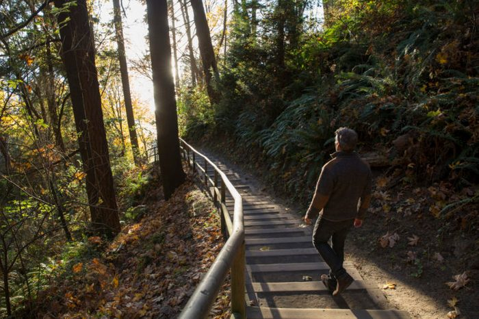 man hiking dealing with dating rejection