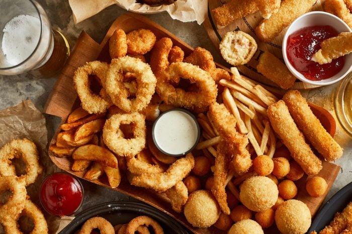 fried foods overhead