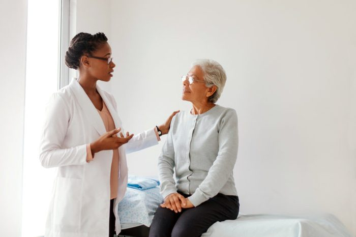 doctor and patient talking about diagnosis