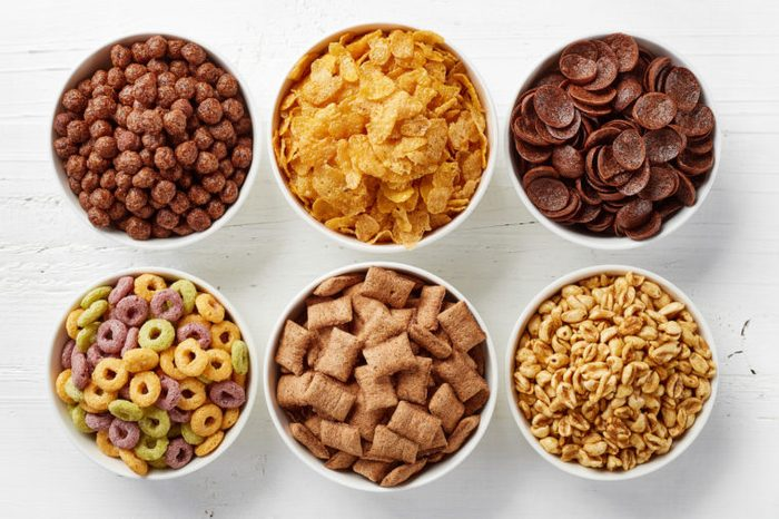cereal bowls from overhead