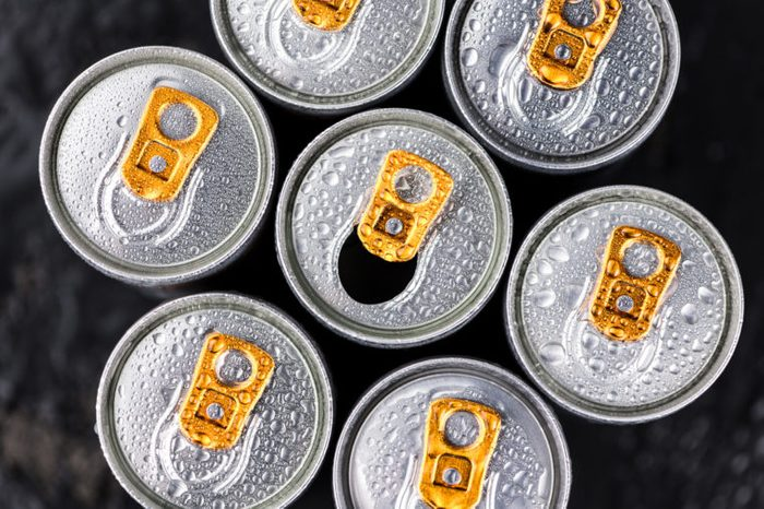 energy drinks from overhead