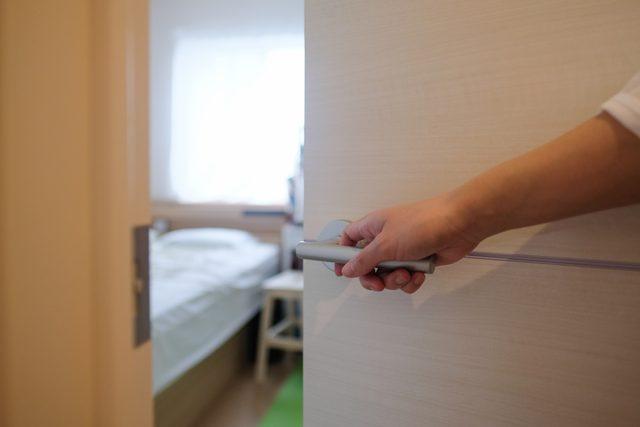 open bedroom door