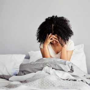 woman struggling with insomnia