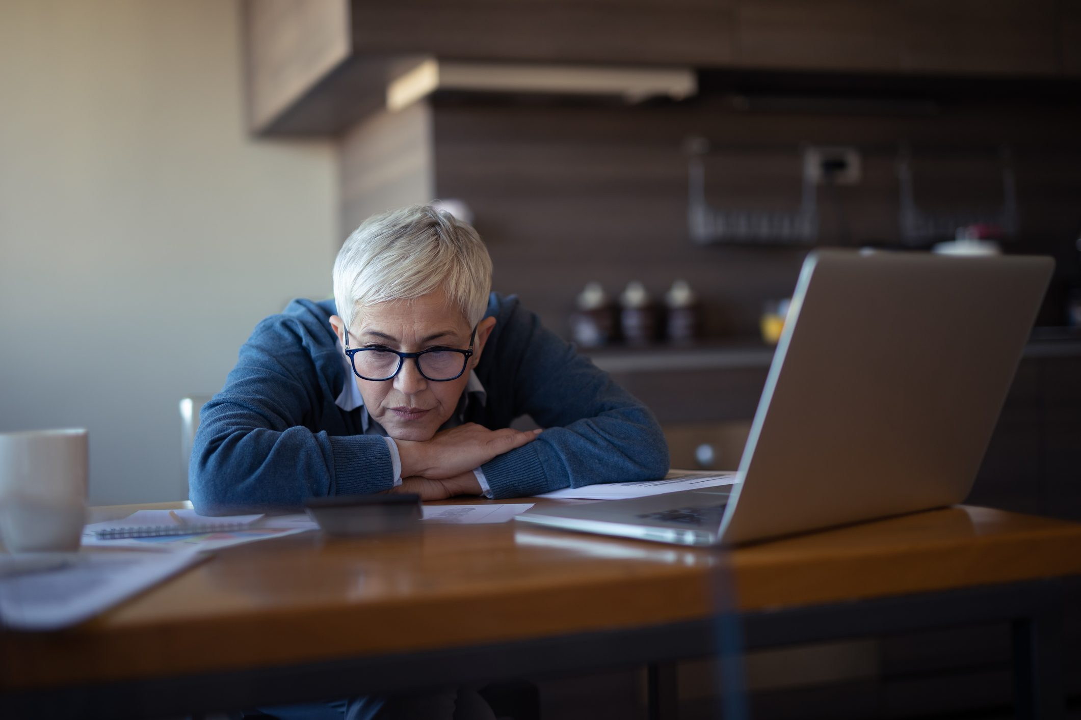 woman stressed out about work