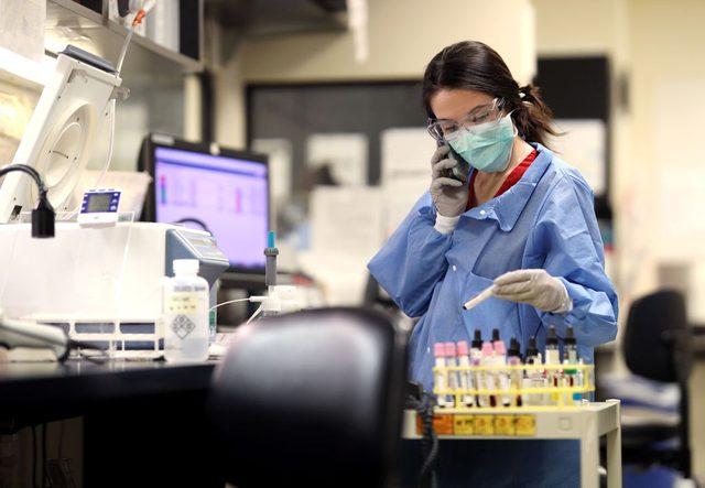 coronavirus testing lab in Maryland