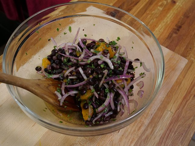 black bean mandarin orange salad