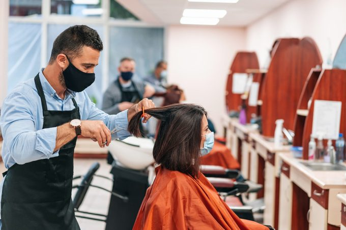 hair salon during coronavirus pandemic