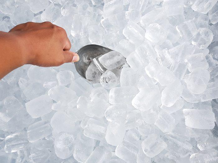 scooping ice