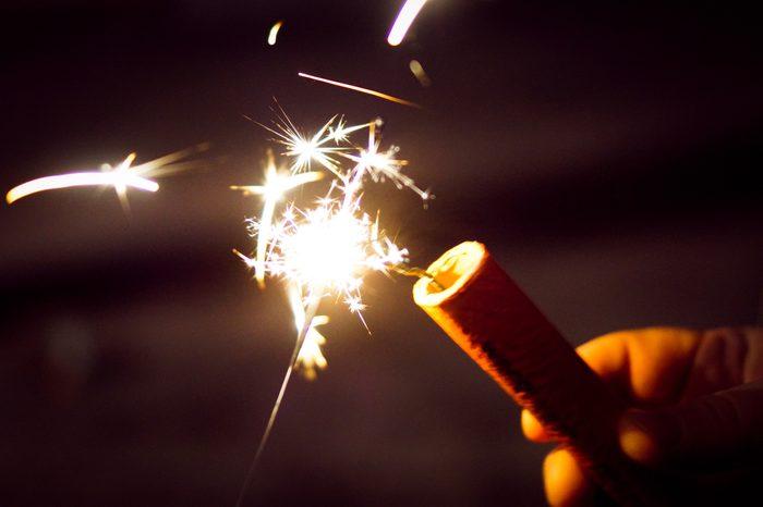 firework sparkler close up