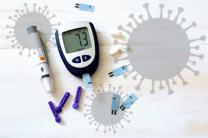 coronavirus and diabetes concept