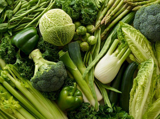 full frame shot of green foods
