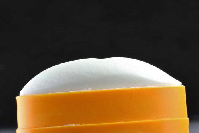 close up of deodorant stick