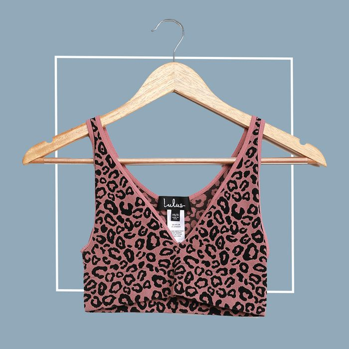 lulus leopard print sports bra