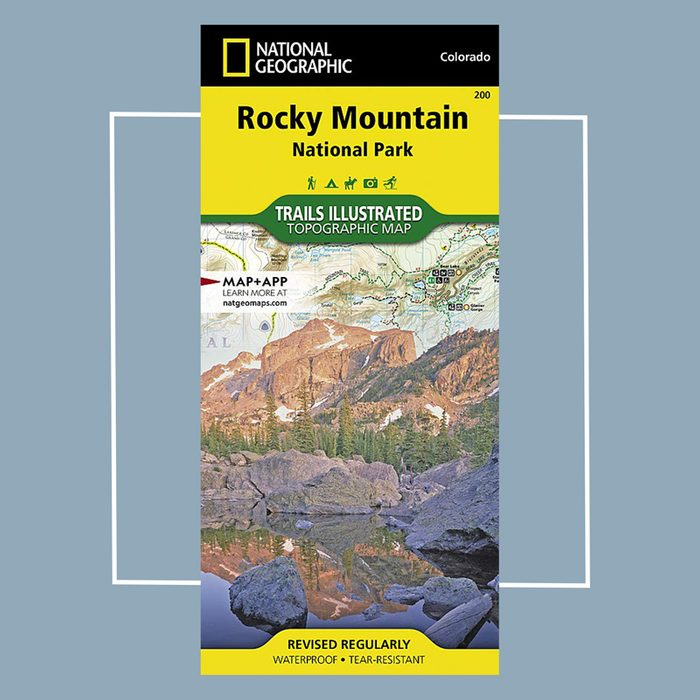 national geographic hiking trail map