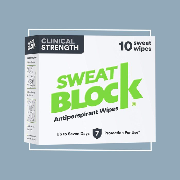 sweat block antiperspirant wipes