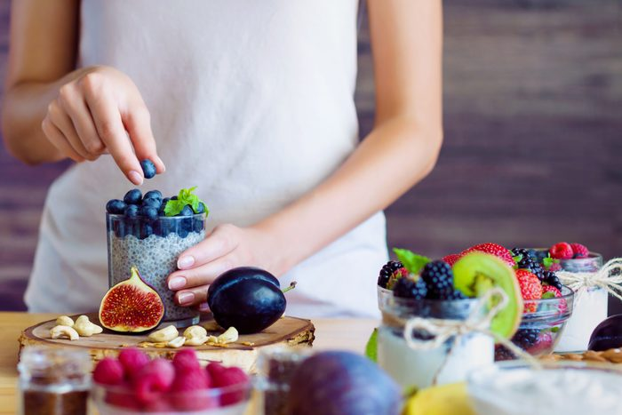 Healthy fitness food for breakfast