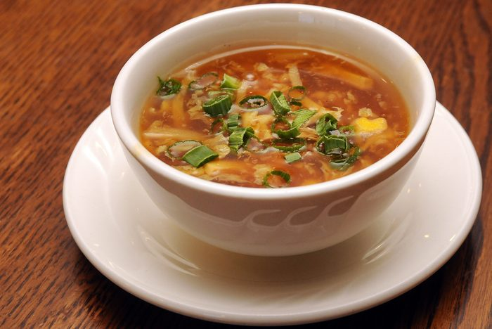 Hot and Sour Soup Isolated