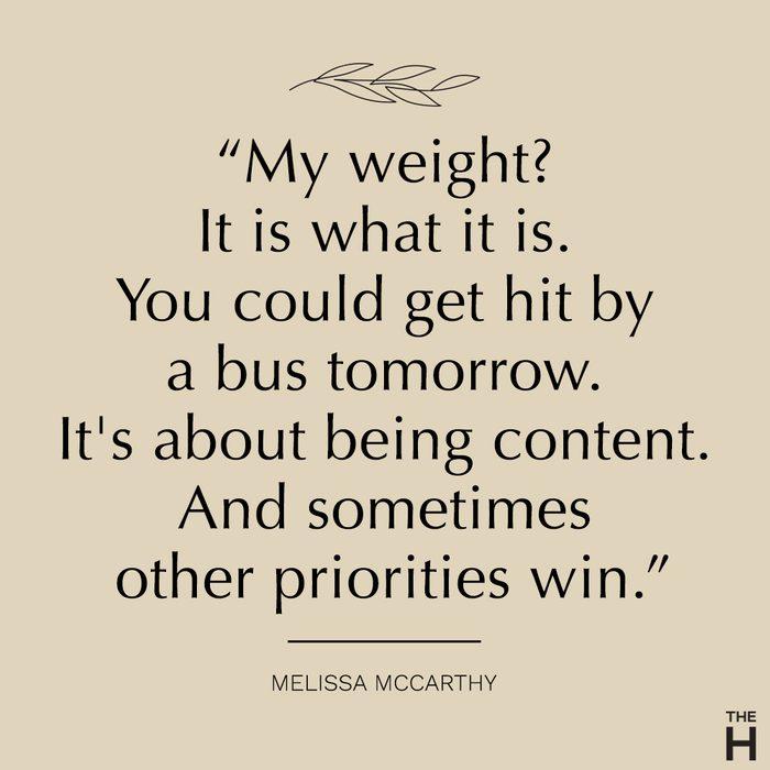 Melissa McCarthy body positive quote