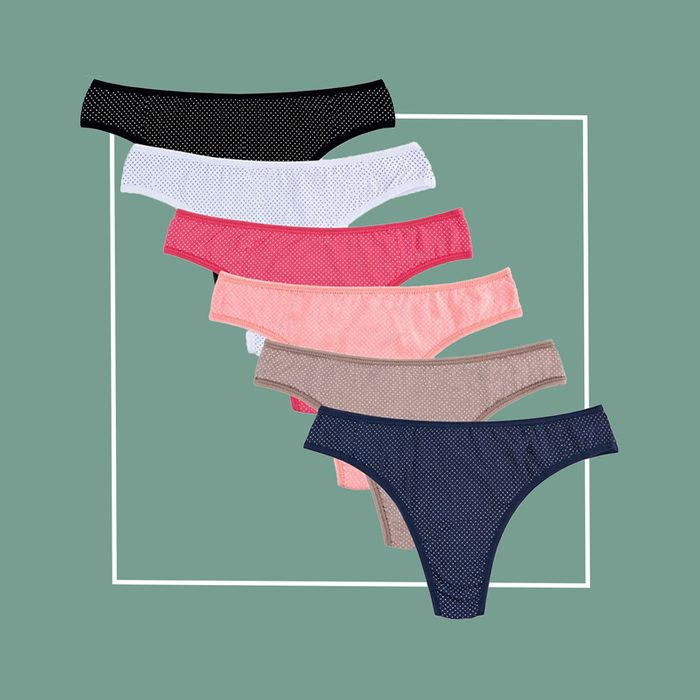 knitlord cotton thong underwear