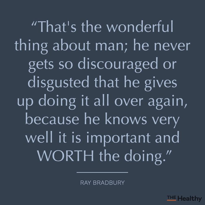 ray bradbury positive mood boosting quote