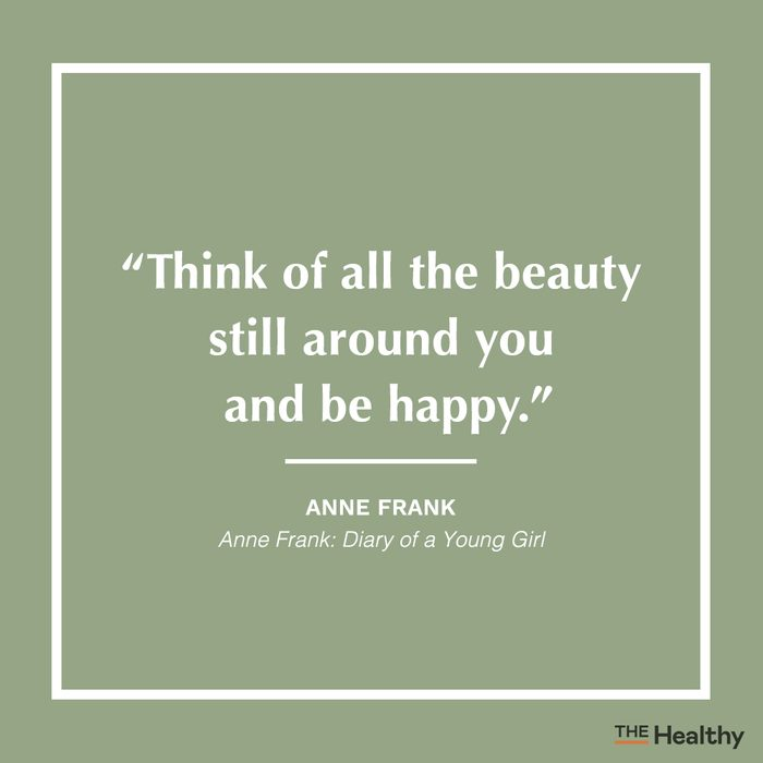 anne frank positive thinking quote
