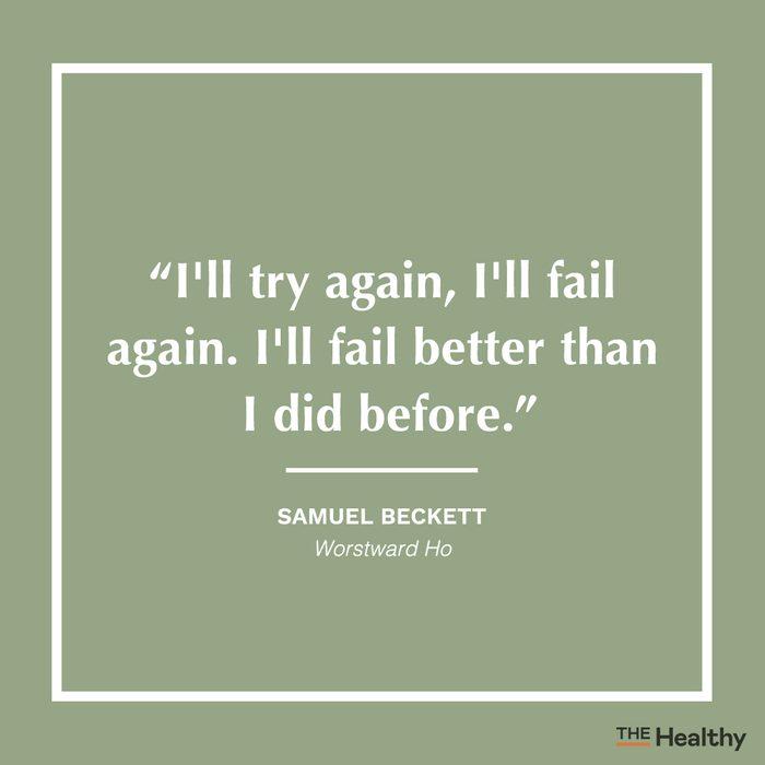 samuel beckett positive thinking quote