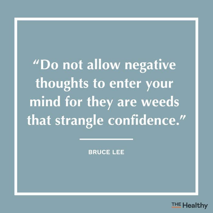 bruce lee positive thinking quote