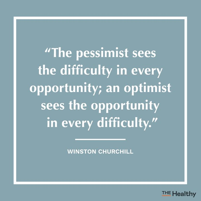 winston churchill positive thinking quote