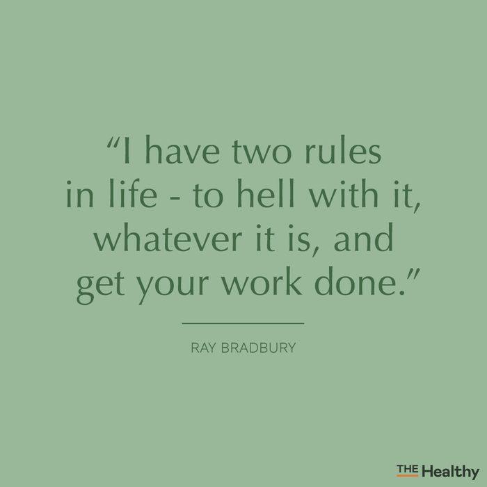 ray bradbury self motivation quote