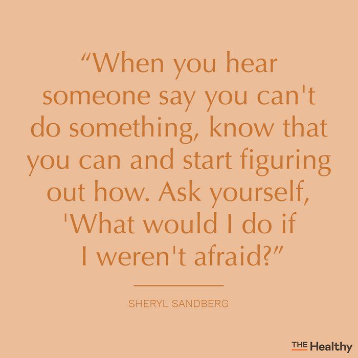 sheryl sandberg self motivation quote