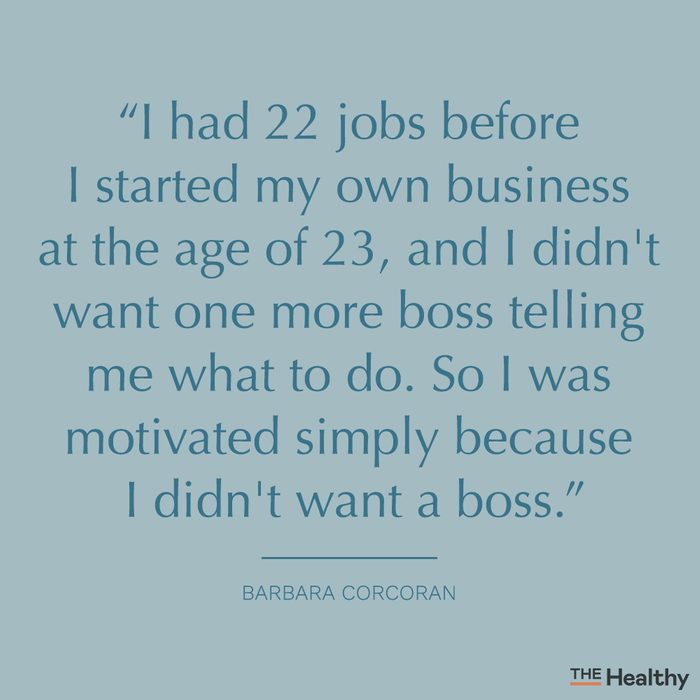 barbara corcoran self motivation quote