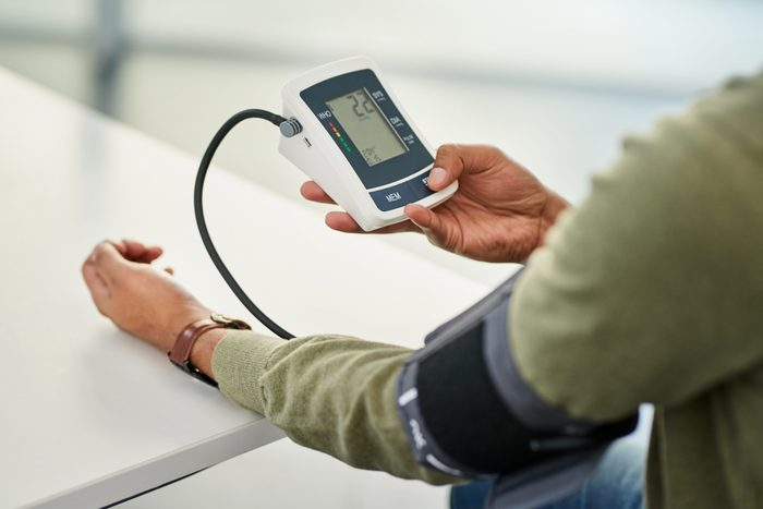 His daily check-up includes assessing his blood pressure