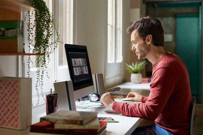 Male working from home during coronavirus