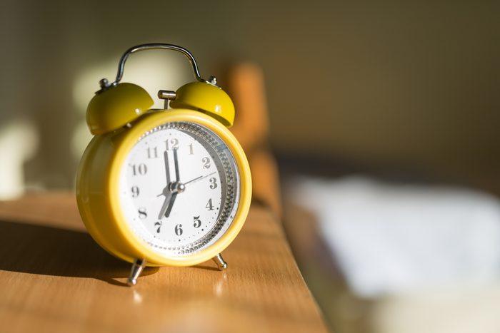 Alarm Clock On A Night Stand