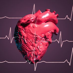 Human heart and pulse traces