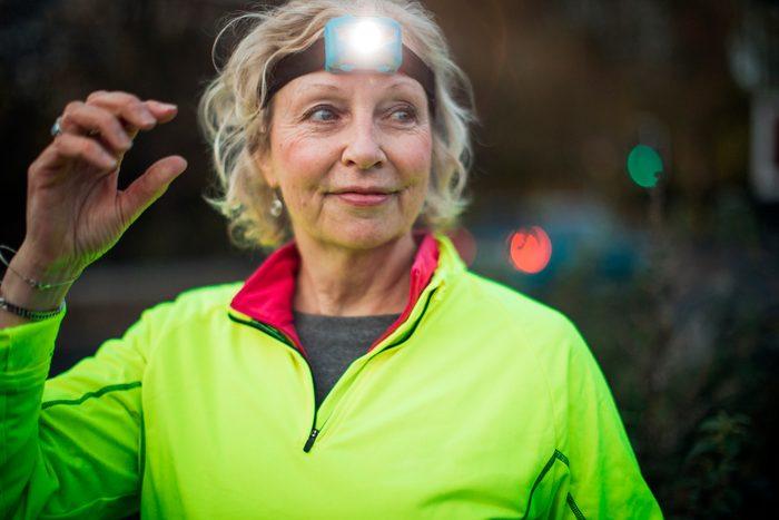 Portrait of a Senior Female Urban Runner
