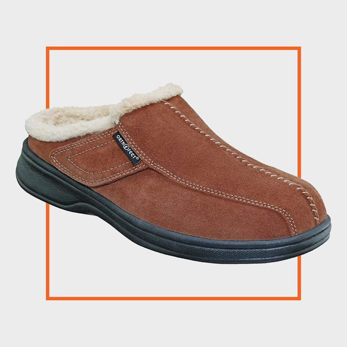 Orthofeet Asheville Leather Slippers
