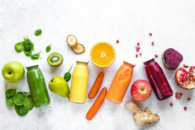 fruits, vegetables, ingredients, and juice smoothies