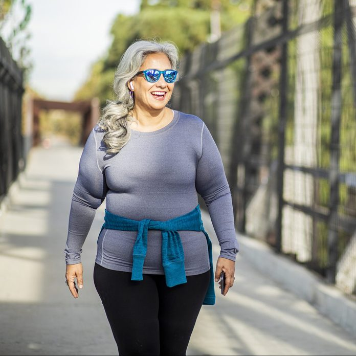 Woman Walking outside for exercise