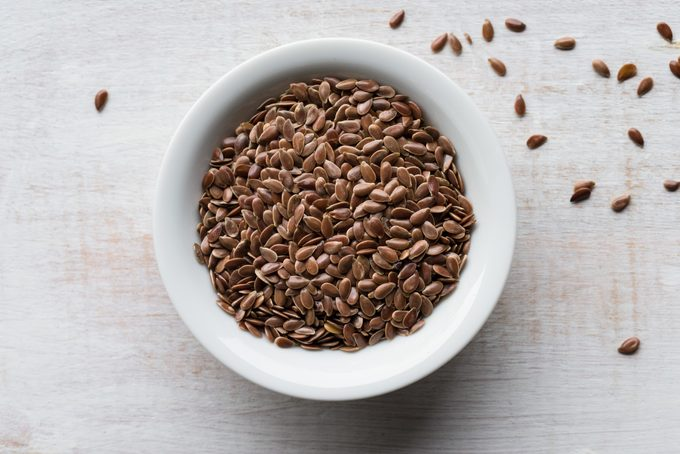 bowl of flaxseeds