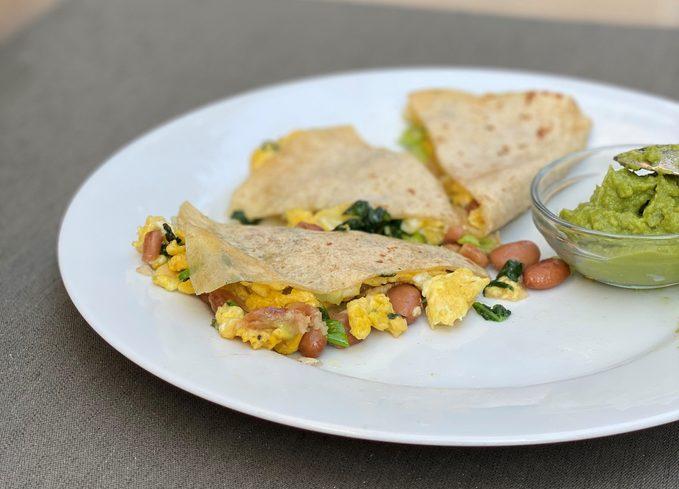 healthy breakfast quesadilla