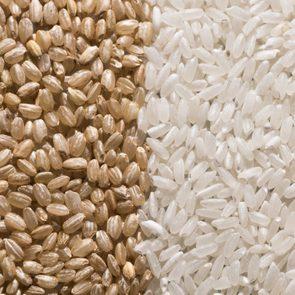 Brown Rice vs. White Rice Full Frame