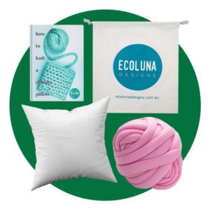 """Complete Arm Knitting Kit for 8x8"""" Pillow"""