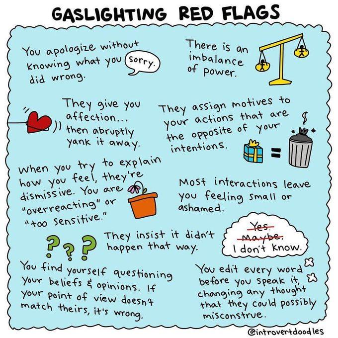 gaslighting red flags meme