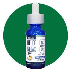CBDistillery Relief + Relax Broad Spectrum CBD Oil Tincture