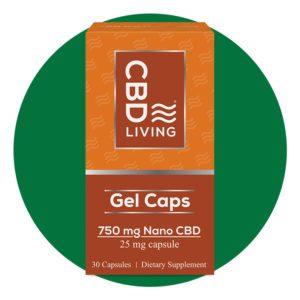 CBD Living Nano CBD Hemp Oil Capsules