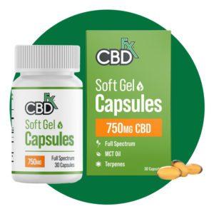 CBDfx CBD Soft Gel Capsules